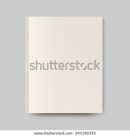 Blank magazine cover. Isolated object for design and branding. Vector illustration