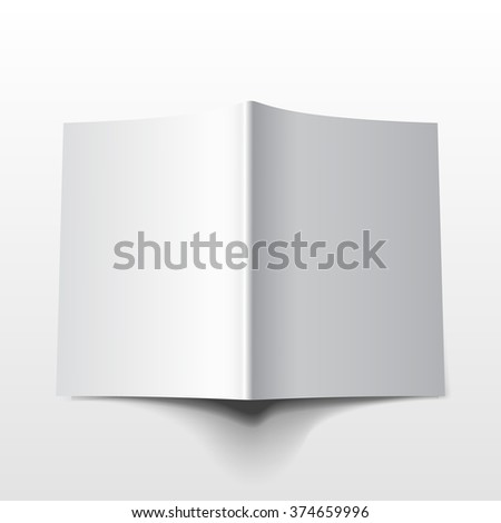 Blank magazine mockup template. Realistic vector EPS10 illustration.