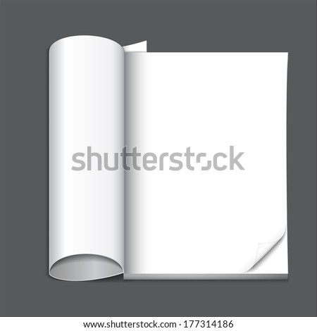 blank magazine page, ready for your design - stock vector