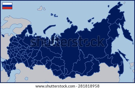 Blank Map Russia Stock Vector Shutterstock - Blank map of russia