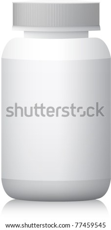 Blank medicine bottle realistic vector illustration