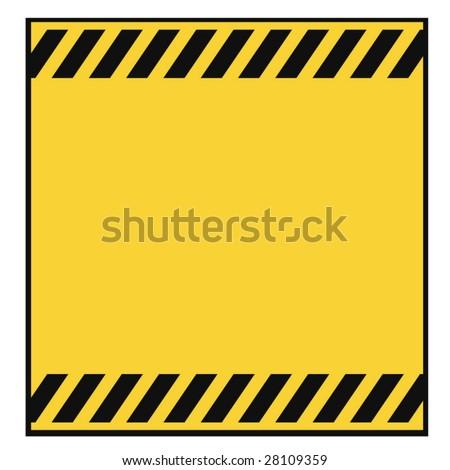 Blank Metallic Warning Template - stock vector