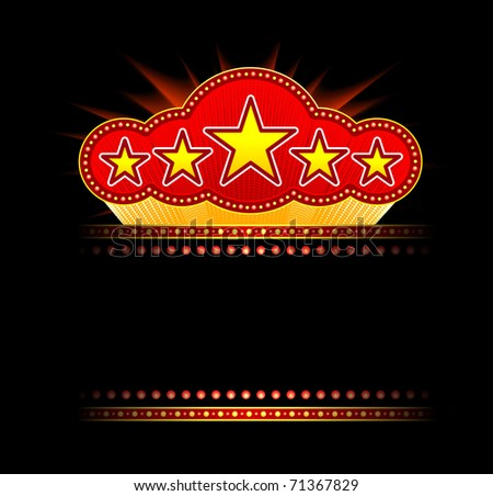 Blank movie, theater or casino marquee - stock vector