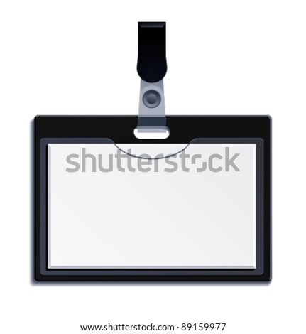 Blank Name Tag. Vector