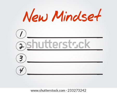 Blank New Mindset list, vector concept background - stock vector