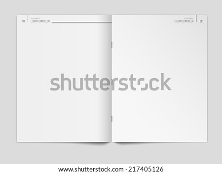 Blank newspaper template on gray background. Vector illustration. EPS10. - stock vector