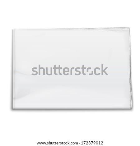 Blank newspaper template on white background. Vector illustration. EPS10. - stock vector