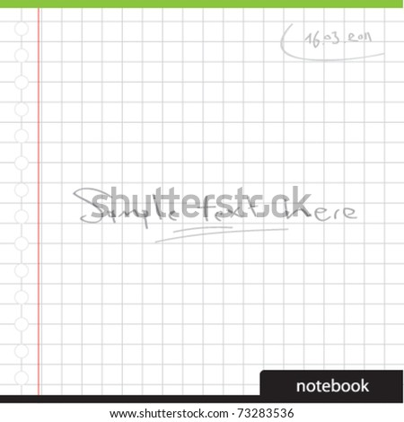 blank notebook - stock vector
