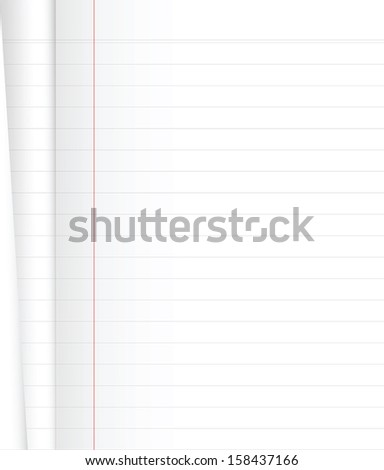 Blank Notebook on white background .Vector file.