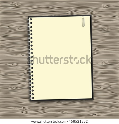 Blank notebook paper on spiral vector