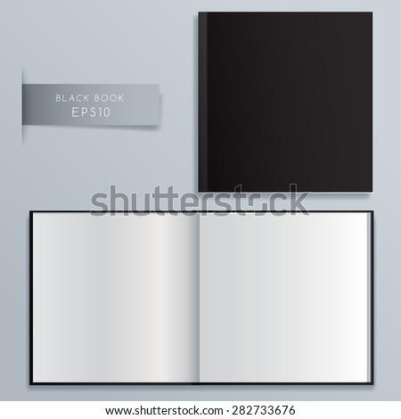 Blank Notebook Template : Vector Illustration - stock vector