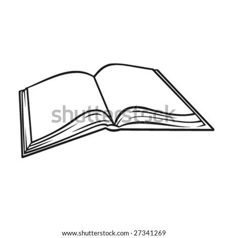 Blank Open Book Illustration - stock vector