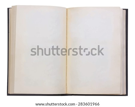 blank open book, vector