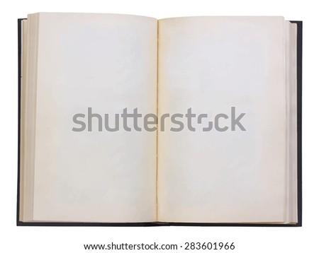 blank open book, vector - stock vector