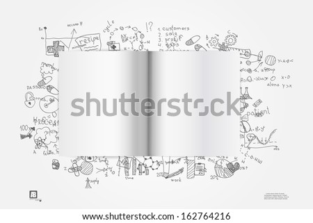 Blank open notebook - stock vector