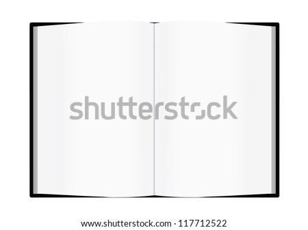 Blank opened book isolated on white background - stock vector
