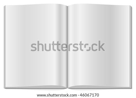 Blank opened magazine isolated on white background. - stock vector