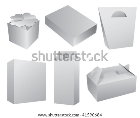 blank packaging box - stock vector