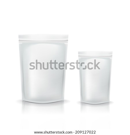 blank packaging template isolated over white background - stock vector