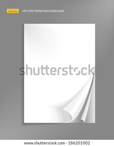 Blank pages of brochure with wrapped corners - stock vector