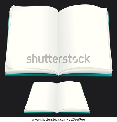 Blank Paper Book for your text or design - stock vector