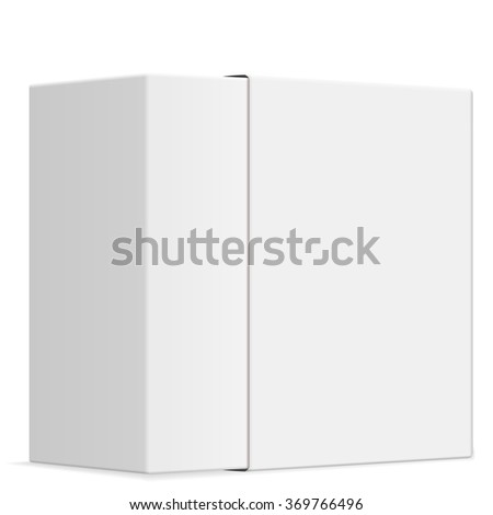 Blank paper box on a white background. - stock vector