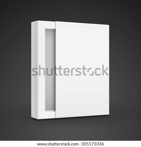 blank paper box template isolated on black background - stock vector