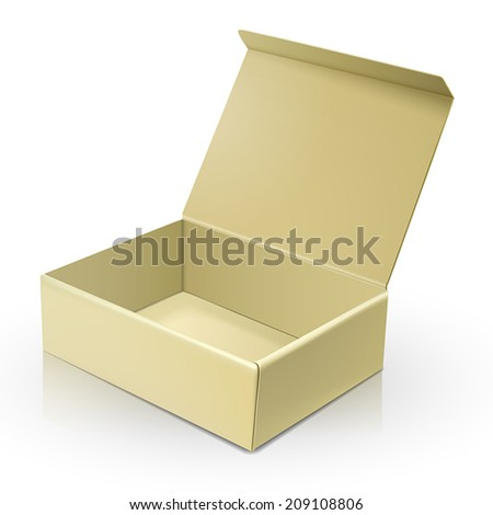 blank paper box template isolated over white background  - stock vector