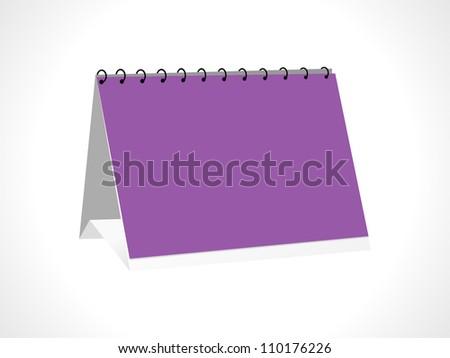 Blank paper 3d desk calendar - stock vector