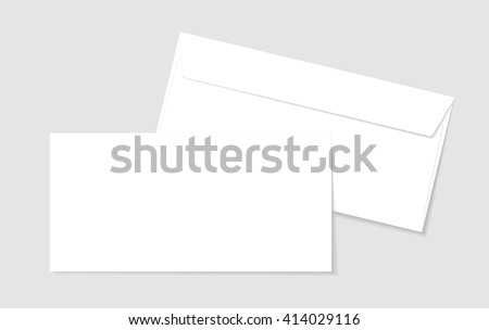 Blank paper envelopes for your design. Vector envelopes template. - stock vector