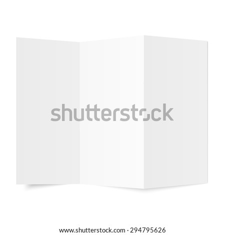 Blank Paper. Isolated on white.