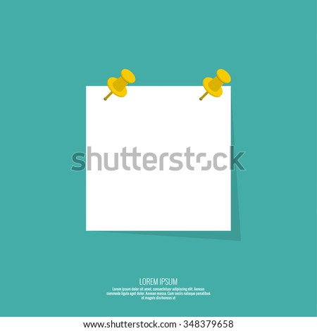 Blank Paper Note Push Pin Vector Stock Vector   Shutterstock