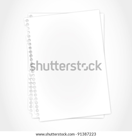 Blank paper sheet and shadow. - stock vector