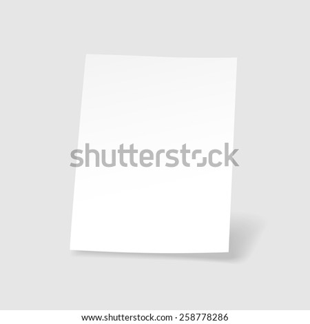Blank  paper sheet Realistic vector