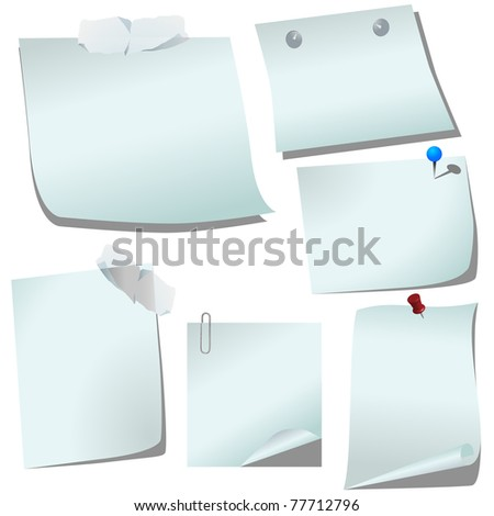 Blank paper. Space for memo. Vector - stock vector