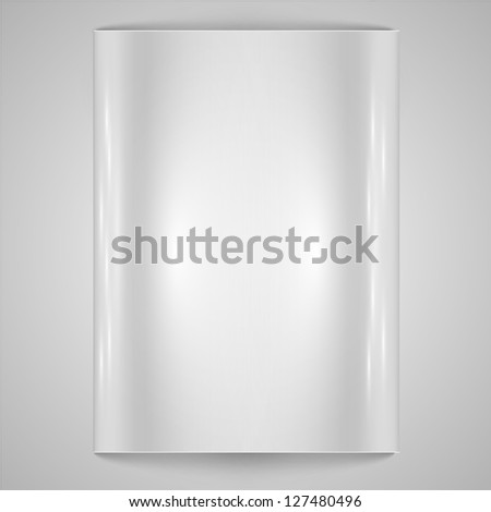Blank paper/steel background - stock vector