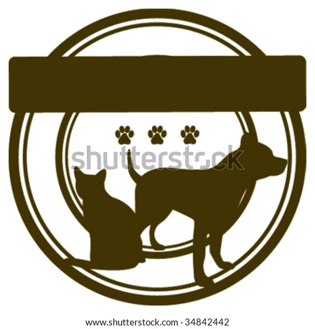 Blank Pet Stamp - stock vector