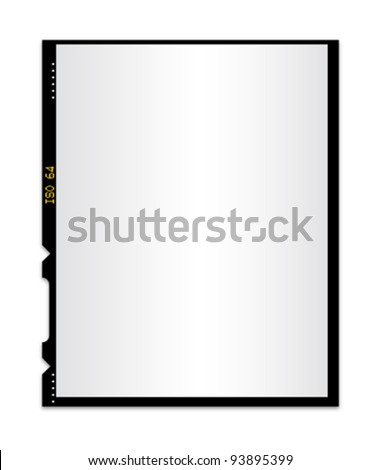 Blank photo film isolated 2 - stock vector