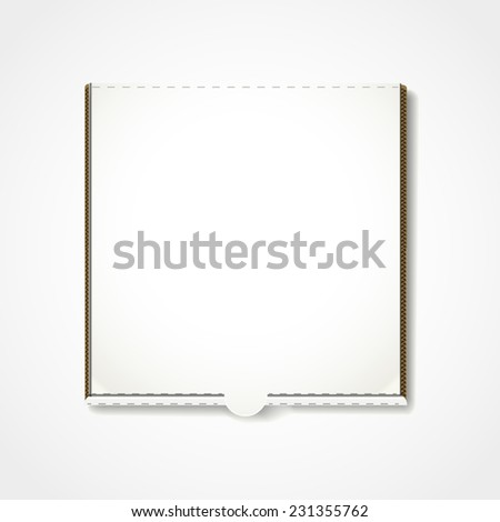 blank pizza box template isolated on white background  - stock vector
