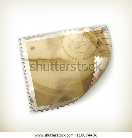 Blank Postage stamp, old-style vector isolated - stock vector