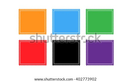 Blank postage stamp vector set. - stock vector