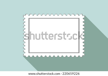 blank postage stamps i - stock vector