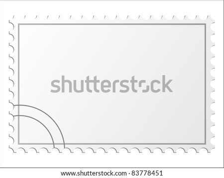 Blank postage stamps. Vector. - stock vector