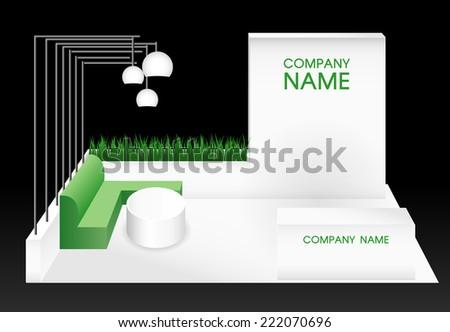 blank premium exhibition booth - stock vector