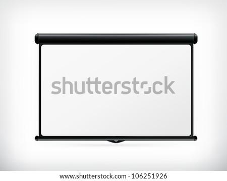 Blank Projection screen, vector - stock vector