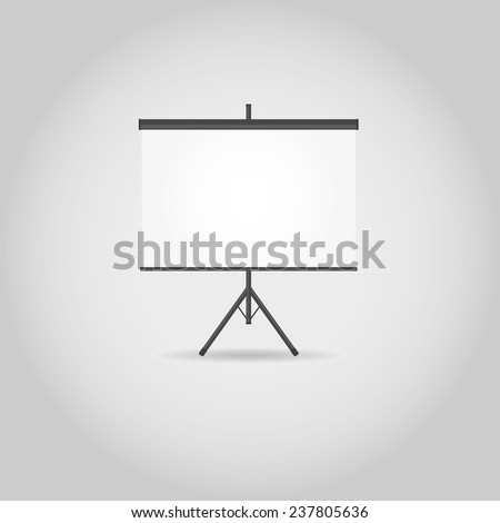 Blank projection screen with copy-space - stock vector