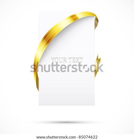 Blank promo tag. Paper and ribbon - stock vector