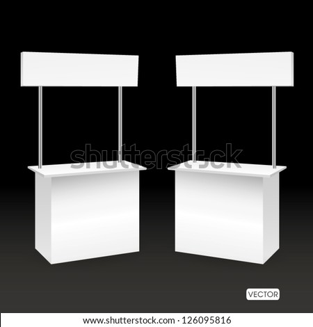 blank promotion booth - stock vector