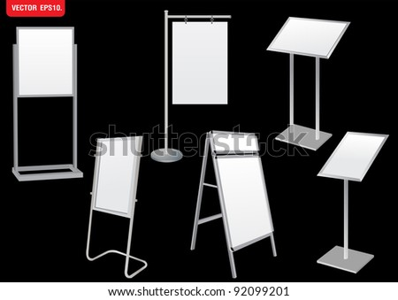 Blank Promotion Stand set. Vector template - stock vector