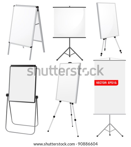 Blank Promotion Stand set. Vector template background - stock vector